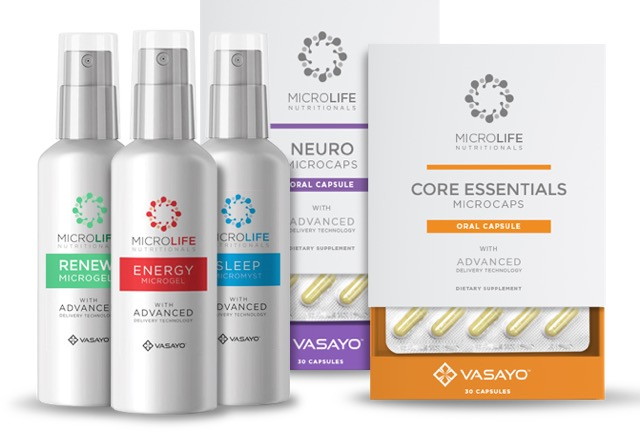Vasayo Microlife Nutritionals Product Line